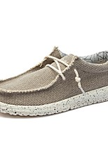 cheap -Men's Comfort Shoes Linen Spring & Summer Casual Loafers & Slip-Ons Blue / Gray / Khaki