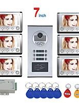 cheap -MOUNTAINONE SY801HIDP6 WIFI / Wired & Wireless 7 Inch 2 Apartment/Family Video Door Phone Intercom System RFID IR-CUT HD 1000TVL Camera Doorbell Camera  Waterproof