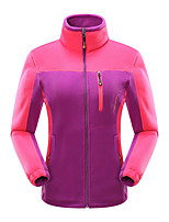 cheap -Women's Hiking Fleece Jacket Winter Outdoor Fleece Lining Warm Comfortable Winter Fleece Jacket Single Slider Climbing Camping / Hiking / Caving Winter Sports Purple / Orange / Yellow / Pink