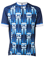 cheap -21Grams Men's Short Sleeve Cycling Jersey Winter 100% Polyester Blue Bike Jersey Top Mountain Bike MTB Road Bike Cycling UV Resistant Breathable Quick Dry Sports Clothing Apparel / Stretchy