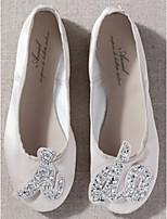 cheap -Women's Wedding Shoes Flat Heel Round Toe PU Spring & Summer White