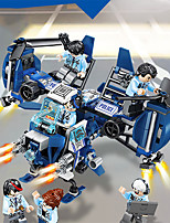 cheap -Building Blocks 260 pcs Fighter Aircraft Moto compatible Legoing Simulation Motorcycle Construction Truck Set Fighter All Toy Gift / Kid's