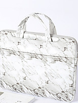 cheap -13.3 Inch Laptop / 14 Inch Laptop / 15.6 Inch Laptop Sleeve / Briefcase Handbags PU Leather Marble for Men for Women for Business Office Water Proof Shock Proof