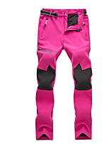 cheap -Women's Hiking Pants Patchwork Winter Outdoor Waterproof Windproof Breathable Warm Pants / Trousers Bottoms Camping / Hiking / Caving Traveling Winter Sports Black Fuchsia Burgundy M L XL XXL XXXL