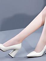 abordables -Femme Chaussures à Talons Talon Bottier Bout rond Polyuréthane Printemps été Noir / Blanche / Rouge