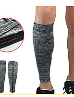cheap -Leg Sleeves Calf Support Calf Compression Sleeves Sporty for Running Marathon Basketball Moisture Wicking Elastic Breathable Men's Women's Spandex Fabric 1pc Sports Grey