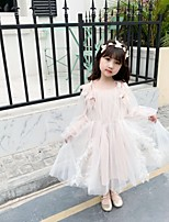 abordables -Princesse Robe Fille Cosplay de Film Cosplay Halloween Blanche Robe Halloween Carnaval Mascarade Tulle Polyester