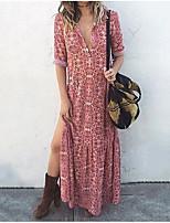 cheap -Women's Elegant Sheath Dress - Solid Colored Blushing Pink S M L XL