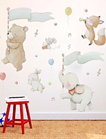 cheap -Decorative Wall Stickers - Plane Wall Stickers Animals / Stars Nursery / Kids Room