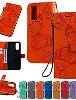 cheap -Case For Samsung Galaxy S9 / S9 Plus / S8 Plus Wallet / Card Holder / with Stand Full Body Cases Butterfly / Solid Colored PU Leather