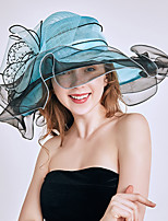 cheap -Queen Elizabeth The Marvelous Mrs. Maisel Retro Vintage Kentucky Derby Hat Fascinator Hat Women's Organza Costume Hat White / Orange / Burgundy Vintage Cosplay Party Party Evening