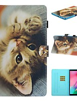 cheap -Case For Samsung Galaxy Tab A2 10.5(2018) / Samsung Tab A 10.1(2019)T510 / Samsung Tab A 8.0(2019)T290/295 Card Holder / with Stand / Flip Full Body Cases Cat PU Leather For Galaxy T720