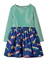 cheap -Kids Girls' Striped Dress Green