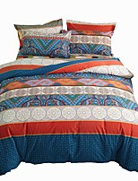 cheap -Duvet Cover Sets 4 Piece Cotton Geometric Dark Yellow Applique Contemporary