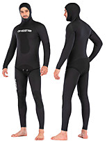 cheap -DIVESTAR Men's Full Wetsuit 3mm SCR Neoprene Diving Suit Thermal / Warm Quick Dry Stretchy Long Sleeve 2-Piece - Diving Water Sports Solid Colored Autumn / Fall Spring Summer / High Elasticity