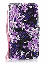 cheap -Case For Samsung Galaxy Galaxy A10(2019) / Galaxy A30(2019) / Galaxy A50(2019) Card Holder / with Stand / Flip Full Body Cases Solid Colored / Flower PU Leather