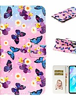 cheap -Case For Huawei P20 Pro / Huawei P20 lite / Huawei P30 Wallet / Card Holder / with Stand Full Body Cases Butterfly PU Leather For Huawei P30 Lite/P30 Pro/P8 Lite 2017/P10 Lite
