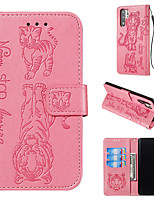cheap -Cat and tiger pattern embossed phone caseHuawei P30 Pro Lite Huawei Mate30  Pro Lite all-inclusive protective case card holder wallet PU leather