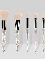 cheap -Professional Makeup Brushes 5 pcs Professional Full Coverage Plastic for Blush Brush Makeup Brush