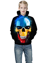 cheap -Kids Boys' Active Punk & Gothic Color Block 3D Plaid Long Sleeve Hoodie & Sweatshirt Black