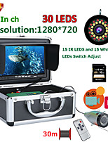 cheap -F7AD-2L-30M DVR Fish Finder Underwater Fishing Camera HD 1280*720 Screen15pcs White LEDs15pcs Infrared Lamp 1080P 30m Camera For Fishing 16GB Recoding