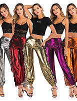 cheap -Women's Yoga Pants Solid Color Black Golden Silvery Purple Orange Cotton Dance Fitness Gym Workout Bloomers Bottoms Sport Activewear Breathable Quick Dry Soft Loose
