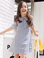 cheap -Kids Girls' Striped Dress Gray