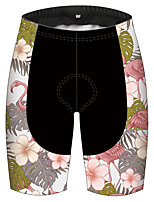 cheap -21Grams Women's Cycling Shorts Bike Pants / Trousers Padded Shorts / Chamois Bottoms 3D Pad Quick Dry Ultraviolet Resistant Sports Floral Botanical Black / Pink Mountain Bike MTB Road Bike Cycling