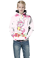 cheap -Kids Boys' Active Punk & Gothic Color Block 3D Plaid Long Sleeve Hoodie & Sweatshirt White