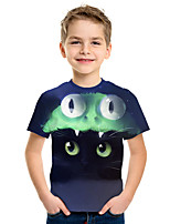 cheap -Kids Boys' Active Street chic 3D Print Short Sleeve Tee Rainbow