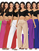 cheap -Women's Yoga Pants Wide Leg Solid Color Black Apricot White Purple Green Cotton Dance Fitness Gym Workout Bottoms Sport Activewear Breathable Quick Dry Soft Loose