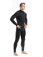 cheap -DIVESTAR Men's Full Wetsuit 3mm SCR Neoprene Diving Suit Thermal / Warm Quick Dry Stretchy Long Sleeve Diving Water Sports Solid Colored Autumn / Fall Spring Summer / High Elasticity
