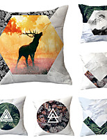 cheap -6 pcs Throw Pillow Simple Classic 45*45 cm  Car Waist Pillow Sofa cushion cover flannelette printing creative Home Office cushion
