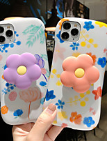 cheap -Case For Apple iPhone 11 / iPhone 11 Pro / iPhone 11 Pro Max Shockproof / Dustproof / with Stand Back Cover Flower TPU