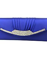 cheap -Women's / Girls' Flower / Embossed Polyester / Alloy Evening Bag Geometric Pattern Black / White / Blue