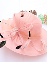 cheap -Queen Elizabeth Audrey Hepburn Retro Vintage Kentucky Derby Hat Fascinator Hat Women's Organza Costume Hat Black / White / Light Purple Vintage Cosplay Party Party Evening