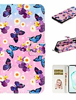 cheap -Case For Samsung Galaxy A6 (2018)/A7(2018) / A8 2018 Wallet / Card Holder / with Stand Full Body Cases Butterfly PU Leather For Galaxy A10S/A20S/A30S/A50S/Note 10 Plus/J6 Plus/J4 Plus/Note 10