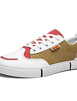 cheap -Men's Comfort Shoes Canvas Fall & Winter Casual Sneakers Color Block Brown / Green / Red