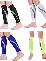 cheap -Leg Sleeves Calf Support Calf Compression Sleeves Sporty for Running Marathon Elastic Breathable Sweat-wicking Men's Women's Nylon 1 Pair Sports Black White Fuchsia