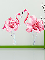 cheap -Wall Stickers Interesting Flamingo DIY Removable Vinyl Flowers Vine Mural Decal Art Stikers For Living Room Wall Decoration