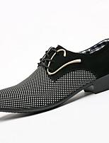 cheap -Men's Comfort Shoes PU Fall & Winter Oxfords Black / White / Black / Blue