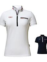 cheap -Women's Girls' Tee / T-shirt Short Sleeve Golf Workout Leisure Sports Outdoor Autumn / Fall Spring Summer / High Elasticity / Breathable