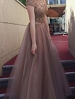 cheap -Women's Maxi Khaki Dress Elegant Swing Solid Colored S M Slim