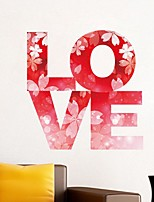 cheap -LOVE Decorative Wall Stickers - Plane Wall Stickers / Holiday Wall Stickers Hearts Bedroom / Kids Room