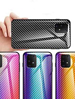 cheap -Case For Samsung Galaxy Galaxy M30(2019) / Samsung Galaxy M30 Shockproof / Dustproof / Ultra-thin Back Cover Color Gradient Carbon Fiber