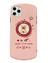 cheap -Case For Apple iPhone 11 / iPhone 11 Pro / iPhone 11 Pro Max Shockproof / Ultra-thin / Pattern Back Cover Solid Colored / Animal / 3D Cartoon PC