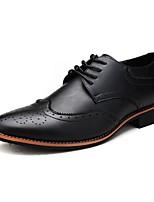 cheap -Men's Comfort Shoes Microfiber Fall & Winter Oxfords Black / Brown / White