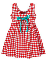 cheap -Kids Girls' Plaid Dress Red