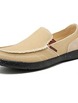 cheap -Men's Comfort Shoes Canvas Spring & Summer Casual Loafers & Slip-Ons Black / Dark Blue / Gray