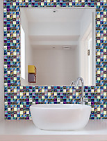 cheap -Mosaic Wall Tile Peel And Stick Self Adhesive Backsplash DIY Kitchen Bathroom Home Wall Sticker PVC 3D